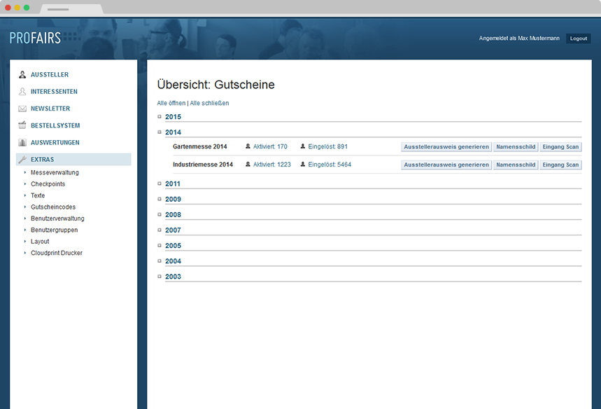Ticketing Gutscheine